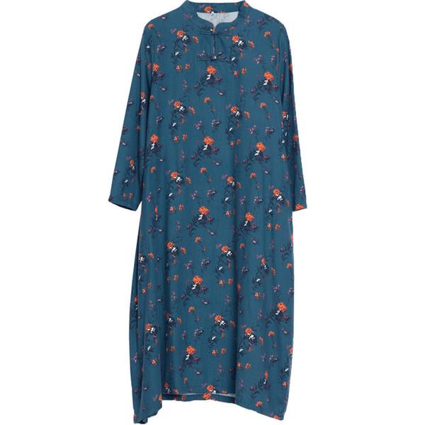 Mulheres Do Vintage Impresso Vestido Longo de Linho de Algodão Saia Solto Maternidade Roupas Gravidez Vestidos Fotografia Grávida Chinês Robe