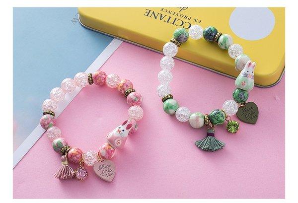 Original Korean Rabbit Bracelet Handmade Tassel Crystal Starfish Hand Ornaments Boudoir Honey Fresh Glass Beads Hand Strings
