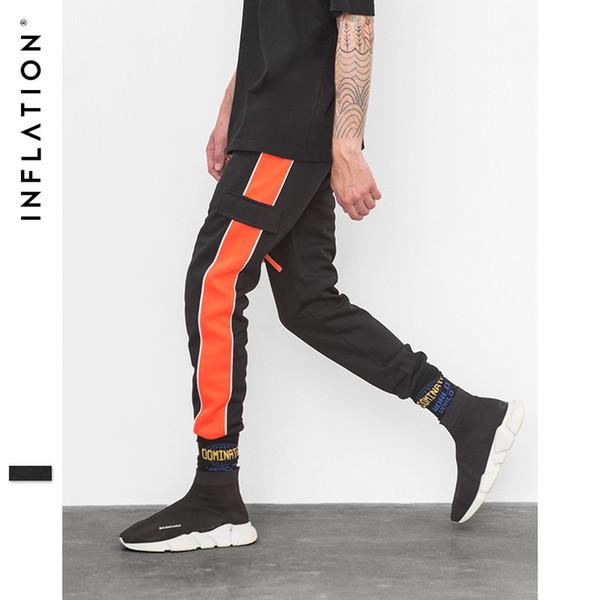 2019 Orange Side Retro Trousers Men Track Pants Cargo Jogger Track Sweatpants High Street For Men Women Brand Clothes 8837W