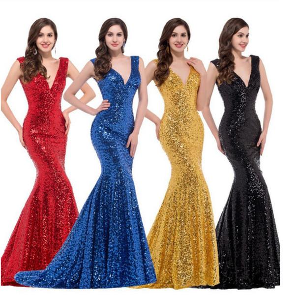 Elegante vestido de fiesta de cuello alto de sirena 2019 Vestidos de noche abiertos Vestido de dama de honor Fiesta de noche elegante y larga Vestido de noche de moda de West W