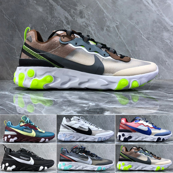 nike react negro Hot Punch Teal mujeres zapatilla de deporte hombres zapatillas deportivas tamaño del zapato eur 36 45