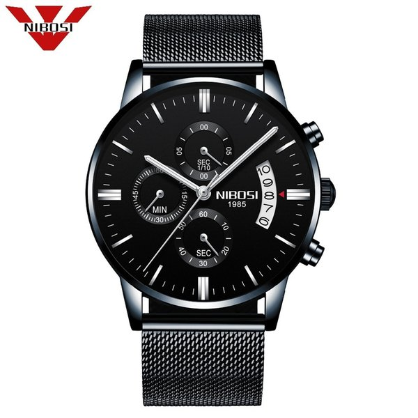 Nibosi Luxury Mens Watches Quartz Ultra Thin Clock Male Waterproof Sporty Fashion Watch Men Casual Wristwatch Relogio Masculino Y19051603