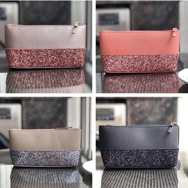 Designer Luxury Handbags Purses Women KS PU Leather Sequins Wallet Wristlet Zipper Purse Outdoor Credit Card Bags Girls Coin Purse C61503