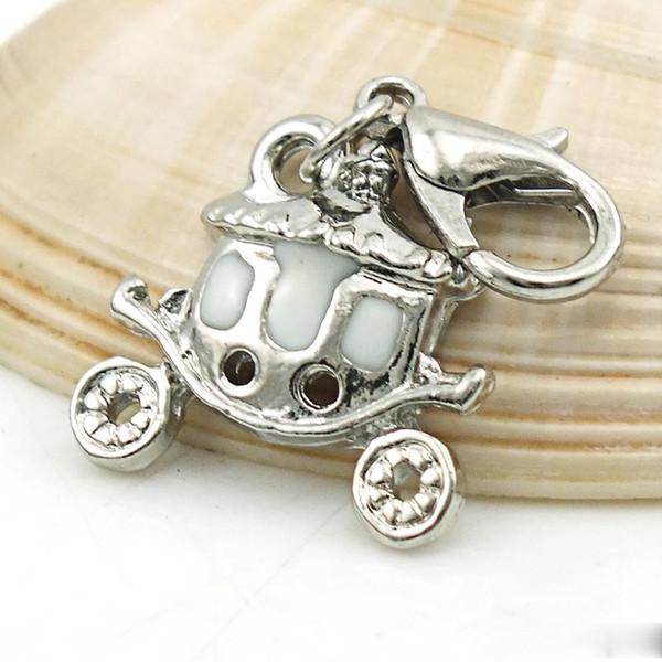 Encantos del carrusel del colgante del esmalte de la forma del nuevo coche para el collar de la pulsera de DIY que encuentra de la joyería