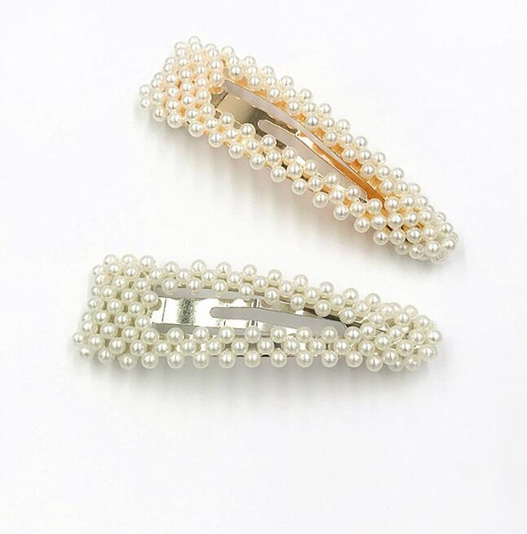 2019 Korean Ins Pearl Hair Clip Barrettes Water Drop Temperament Girl Fashion Hairpins Hair Accessories Trendy Style Ornament Jewelry New