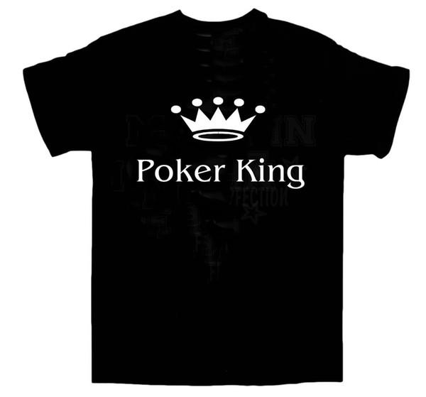 Poker King la camiseta del Vegas Texas Hold'em fichas de casino Talla L gimnasia Camiseta