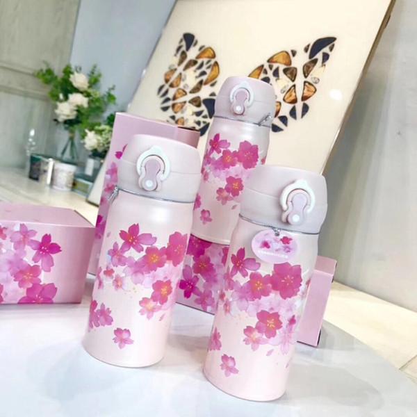Nuovo Starbucks THERMOS Cherry Blossom ritmo rosa in acciaio inox ventose Sakura Stagione fuori dooor sportiva accompagnamento coppa 3500ml
