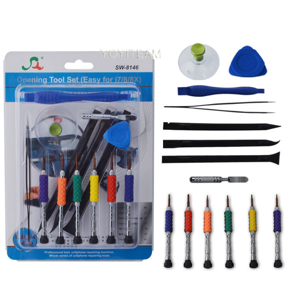 SW-8146 multipurpose disassembly tool group 14 in 1 universal opening tools for smartphone iphone samsung huawei with retail packing