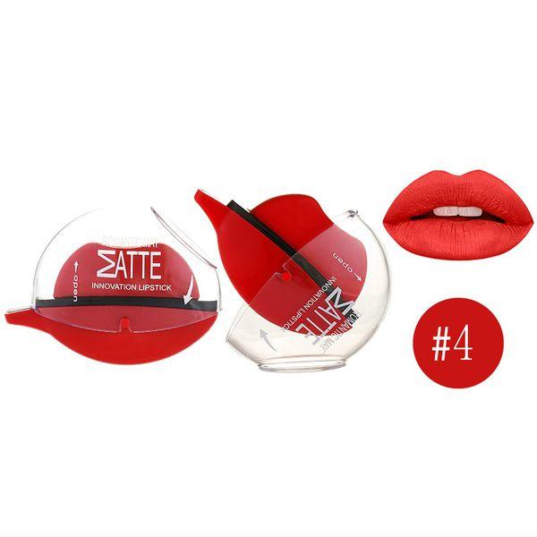 Lazy Person Usa Lip-shaped Lipstick Tazza antiaderente Impermeabile Non marcatura Convenienza Bellezza delle donne Make Up Cosmetici all'ingrosso