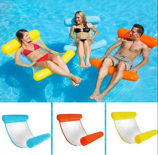 best selling Summer Swimming Pool Inflatable Floating Water Hammock Lounge Bed Chair Summer Inflatable Pool Float Floating Bed