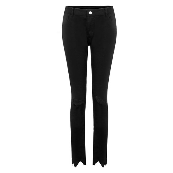 Spring Casual Pants Skinny Ladies Black Ripped Jeans For Woman Plus Size Denim Pencil High Waist Jeans Mujer Jeansy Damskie 20