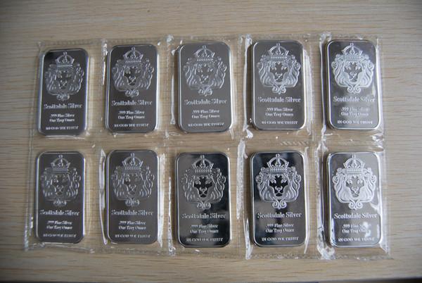 top popular Lingot 1 Onces argent pur 999   Scottsdale 1 Oz Fine Silver 999 Chunk Bar 2021