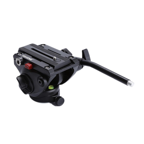 Veledge Aluminum Fluid Head Video Camera Tripod Head With Quick Sliding Qr Release Plate Suitable For Cameras Camcorders Tripo