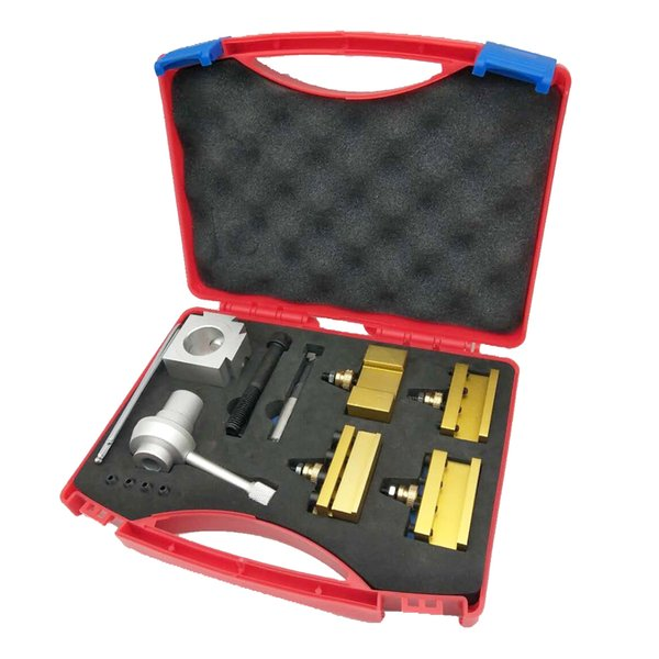 Quality Portable Quick Change Post Holder Tool Kit 360 Degress Rotated Boring Bar Turning Tool Set Holder for CNC Mini Lathe