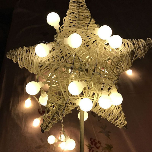 Christmas Decorative Fairy Lamps LED Round Ball String Light USB Flashing String Light Waterproof For Outdoor
