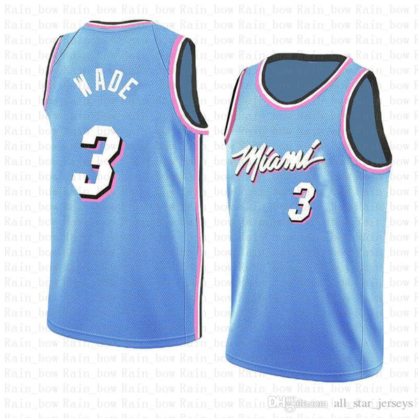 timeless design b54c3 66168 2019 3 Dwyane # Wade 2019 New The City Basketball Jerseys Miami Jersey Heat  BLUE Embroidery Logos 100% Stitched From All_star_jerseys, $42.18 | ...