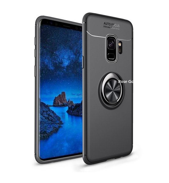 For Samsung Galaxy S8 S9 Plus Case S7 Edge Car Holder Stand Magnetic Bracket Finger Ring TPU Case Back Cover Shock Proof