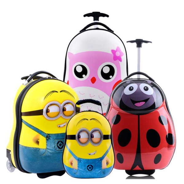 TRAVEL TALE ABS PC children's suitcases small carry on luggage trolley travel bag for kids