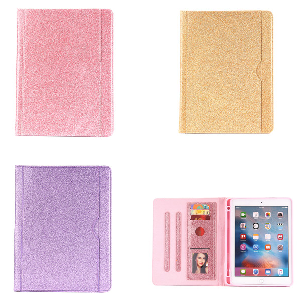 Folding PU Leder Ipad Pulver Magnetic Flip Wake / Sleep Kartenständer Halter Stoßfest Fall Abdeckung für Apple iPad 5 6 Air 2 Mini 1 2 3 4 5 Pro