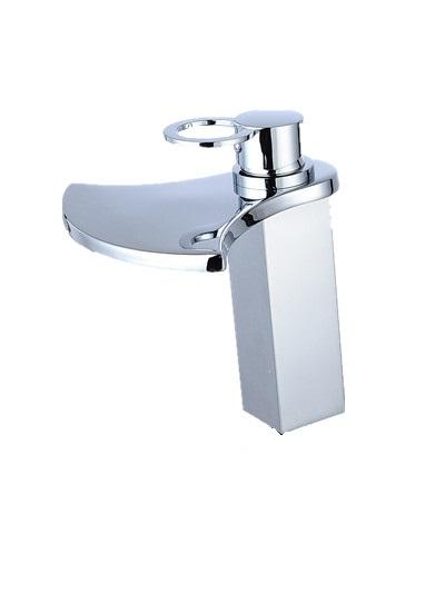 Waterfall Chrome Bathroom Basin Vessel Sink Faucet With Hot and Cold Water Washing Basin Mixer Taps
