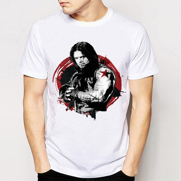 Winter Soldier t shirt Bucky Barnes short sleeve tops Hot print fadeless tees Man woman white colorfast clothing Pure color modal Tshirt