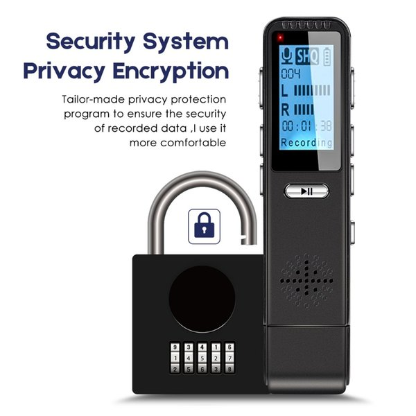USB-Recorder Diktiergerät Mini Registrar Verstecktes Audiomikrofon Telefonaufnahme Kleinster Stift-Flash-Laufwerk Passwort Design