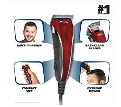 Original Wahl Clipper Multi-Purpose Haircut Facial Body Grooming Kit 79607 Compact Trimming Personal Grooming Kit for Men