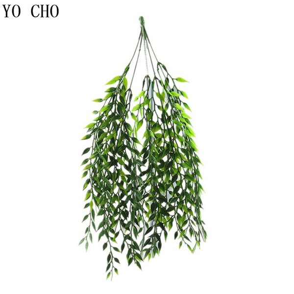 Water Grass Eucalyptus Plastic Artificial Plants Green Grass Plastic Flower Plant Wedding Home Decoration Table Decors