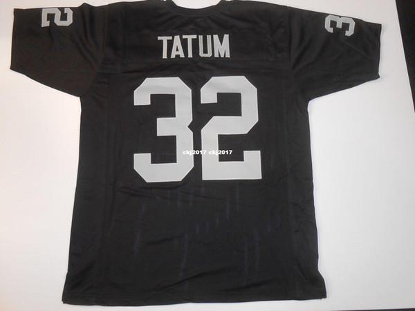 Cheap Retro custom Sewn Stitched #32 Jack Tatum Black MITCHELL & NESS Jersey High-end Men's Football Jerseys College NCAA