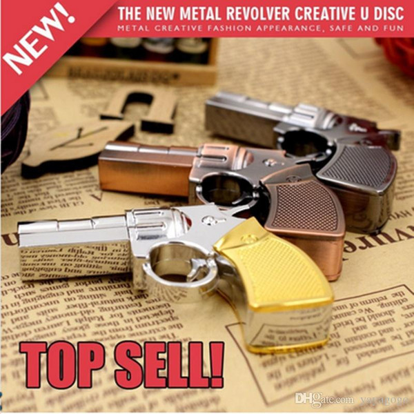 New Real Capacity Pendrive Gun Shaped 16GB 32GB USB Flash Drive 16 32 64 GB Stick Flash Memory Disk Pen Drive U78