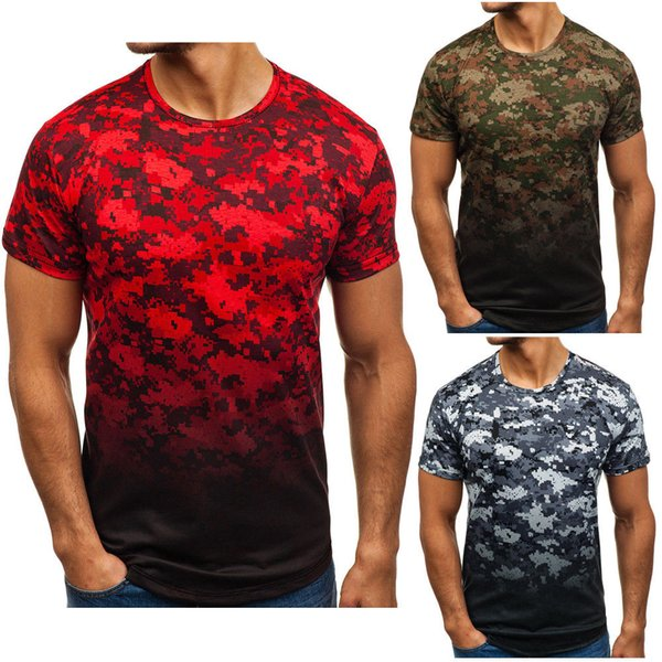 Cool Summer Mens Short Sleeve Camouflage Gradient Print T-Shirts Slim Fit Casual Tops Clothing Bodybuilding Muscle Tees T-shirts Cool Summer Mens Short Sleeve Camouflage Gradient Print T-Shirts Slim Fit Casual Tops Clothing Bodybuilding Muscle Tees T-shirts