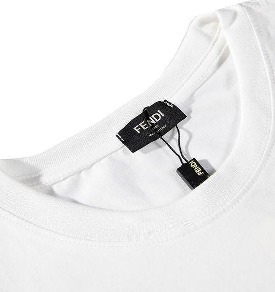 e5755f79e359 Compre Marca Unisex De Verano Para Hombre Camiseta Para Mujer Logotipo De  La Letra F Brazalete Bordado Camiseta Manga Corta Con Cuello En O Camiseta  ...