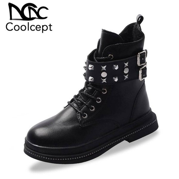 Ladies Womens Girls Low Heel Lace Up Combat Biker Ankle Fashion Boots Goth Size
