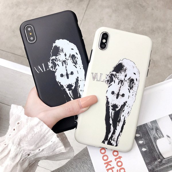 Wholesale TPU phone case fashion For iPhone 6S 7 8 P X XS White wolf Designer phone back cover For gifts