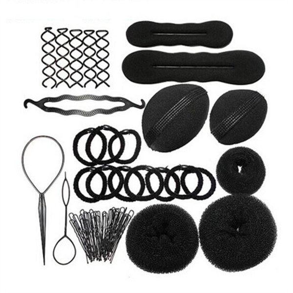 12pcs Hair Braider imposta DIY Magic Hair Braider Sponge ciambella Bun Fluffy spirale Clip strumento di combinazione