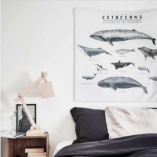 Tapeçarias Wall hangiIns projeto do vento Nórdico pano decorativo cordão sofá espessamento pano de fundo decoração de parede baleia arte tecido aliex