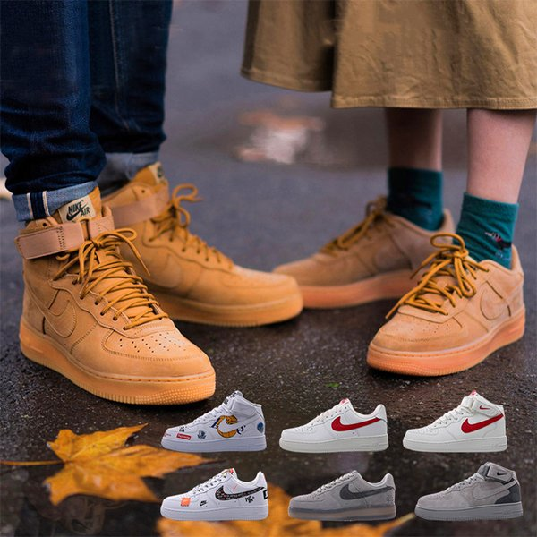 best selling Air 2019 Force 1 Men Women Low Cut one 1 shoes AF1 Dunk Skateboarding Shoes Classic AF fly Trainers high knit air Sneakers