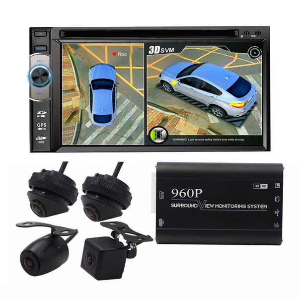 Sistema de alta calidad 360 3D Car Birdview Sistema de visión nocturna a prueba de agua Vista panorámica sin interrupciones DVR DVR con parte delantera izquierda derecha Cámara trasera coche dvr
