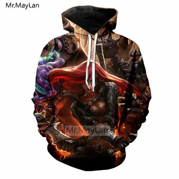 New Cool Game Lol 3D Print Tracksuits Men/women Punk Streetwear Hoodies Boys Rock Jacket Man Fashion Thin Sweatshirts Clothes