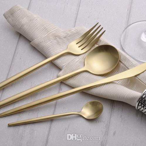 factoryprice NUOVO 4pc argento Coltello in acciaio inox Forcella Partito Qualità Dinnerware Set d'argento Posate Drop Shipping wn586 30set