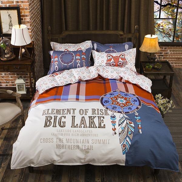 American Big Lake Design bedding set Duvet Covers Pillowcases twin full queen king comforter bedding sets bed linen