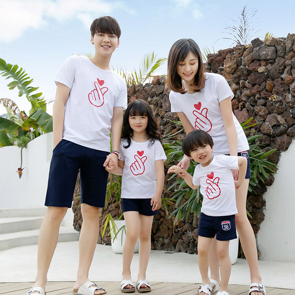 Family Matching Outfits 2019 Summer Style Mother Daughter Clothes Set Cotton Father Son T-shirt And Short Pant Family Clothing