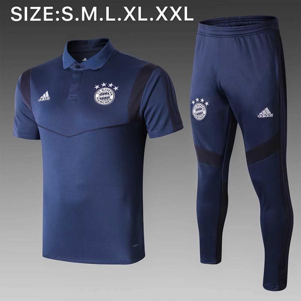 2019 YENİ Barcelona polo gömlekleri Suarez 19 20 Bayern FC Griezmann O.DEMBELE forması Messi Coutinho 2020 kısa sheelve eğitim takım elbise