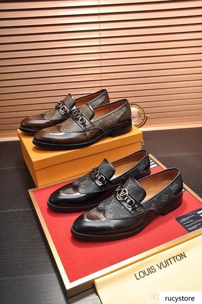 A8 nuovi mens punta a punta scarpe da sera famoso fannullone signori maschi formali usura di balletto degli appartamenti zapatos hombre scarpe oxford per gli uomini
