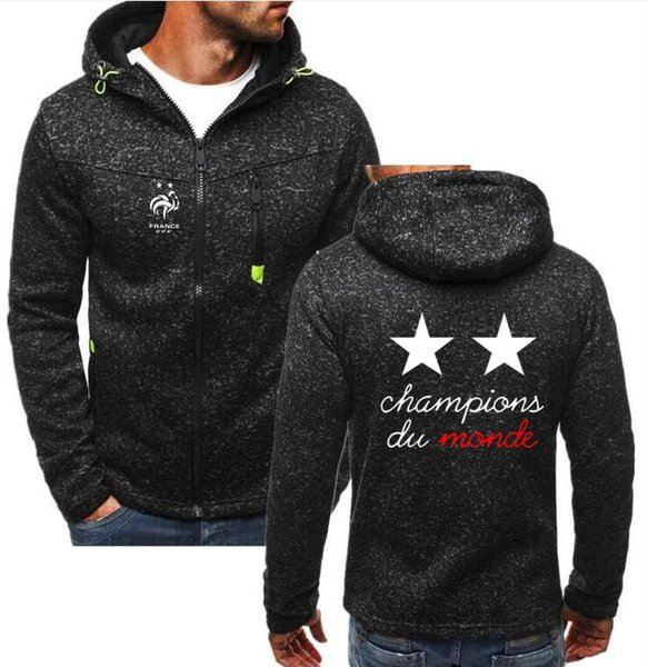 Hot sale France 2018 world Champions parade for pogba Mbappe Griezmann Giroud sweatshirts Mens Pullover Hoodies jackets