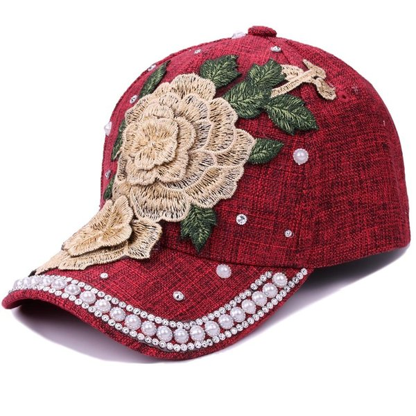 2018 New Hot Fashion Roses Men Women Baseball Caps Spring Summer Sun Hats for Women Snapback Cap Dad Hat