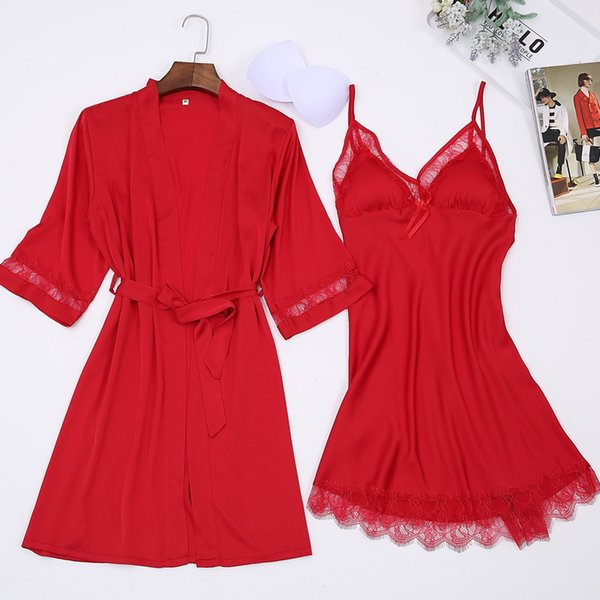 Летний новый сексуальный женский мини-комплект одежды Twinset халат повседневная с половиной рукава ночная рубашка набор новинка кружева домашний халат размер M L Xl Xxl