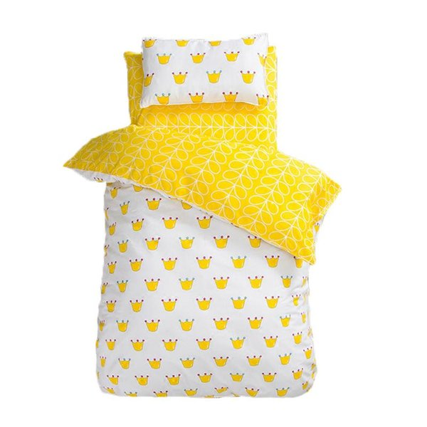 3Pcs/set Cotton Baby Crib Bed Kit For Boy Girl Cartoon Baby Bedding Set Includes Pillowcase Bed Sheet Quilt Cover Without Filler