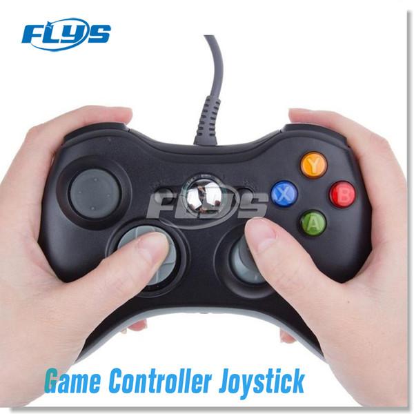 Gamepad USB verdrahteter Gamecontroller Gamepad Joypad-Joystick für Xbox 360 Slim Zubehör PC Dhl-freies Verschiffen Fedex