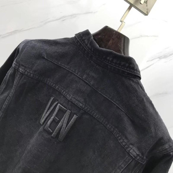 19fw Spring Autumn Fashion Denim Jacket Luxury Logo Embroidery Vintage Men Women Couple Outwear Hip Hop Street Black Jackets Hfymjk059